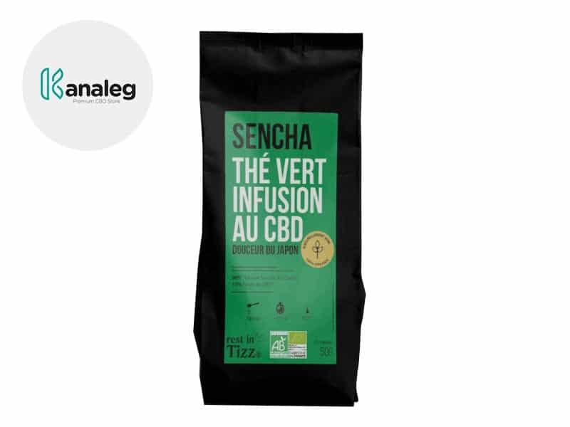 Infusion CBD Thé bio Sencha Thé Vert - Tizz