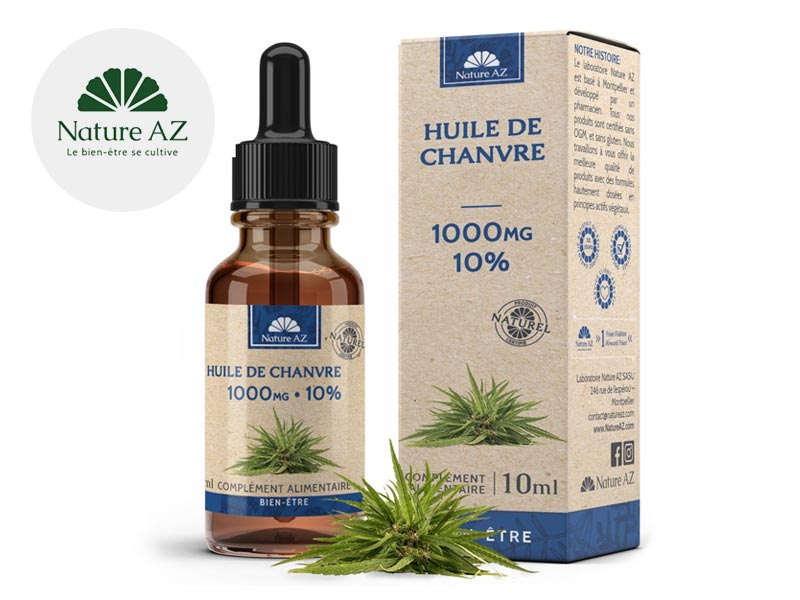 Huile CBD 10% bio - NatureAZ