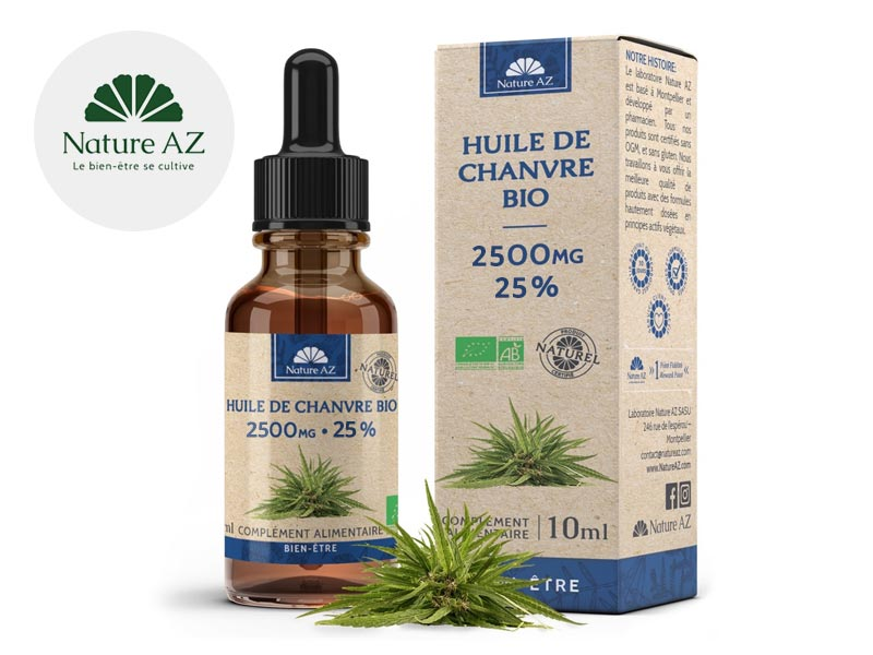 Huile CBD 25% bio - NatureAZ