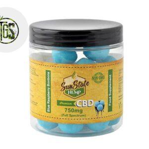 Bonbons Framboise Bleue CBD - Sunstate
