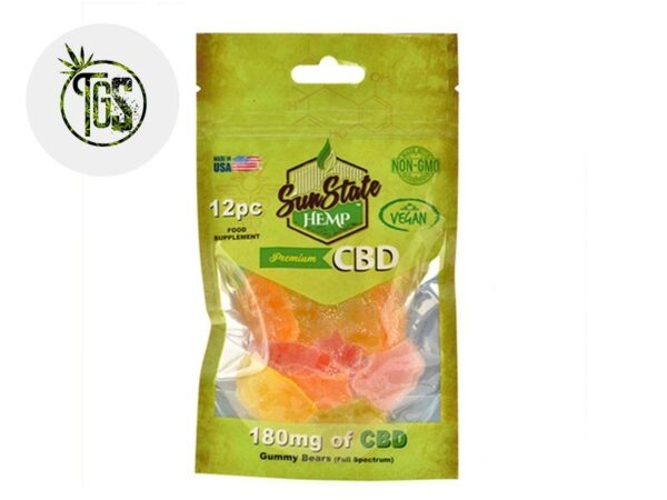 Bonbons Oursons Fruités CBD - Sunstate