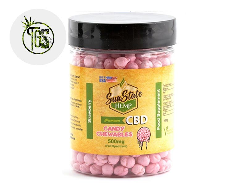 Chewing gums Fraise CBD - Sunstate