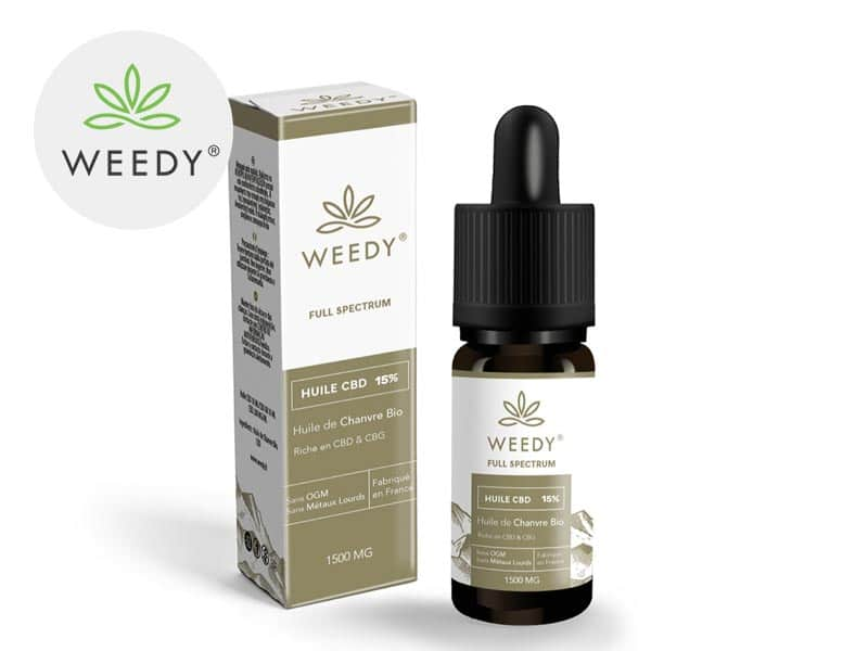 Huile CBD 15% bio - Weedy