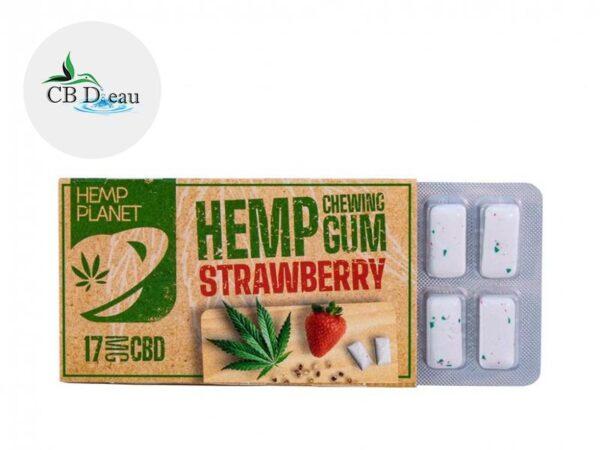 Chewing gums Fraise CBD - Hemp Planet