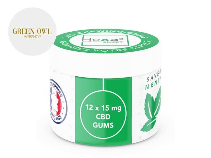 Chewing gums Menthe CBD - Hexa